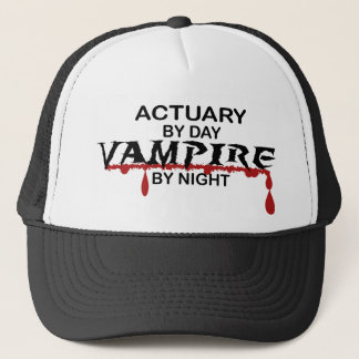 Actuary by Day, Vampire by Night Trucker Hat
