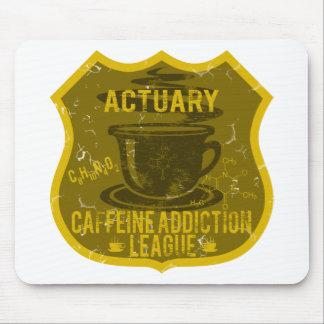 Actuary Caffeine Addiction League Mouse Pad