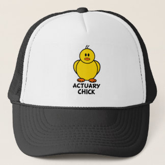 Actuary Chick Trucker Hat