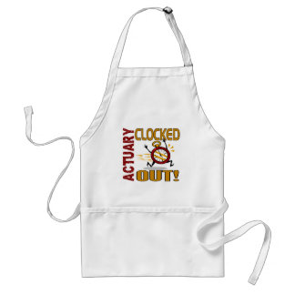 Actuary Clocked Out Aprons