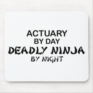 Actuary Deadly Ninja by Night Mouse Mat
