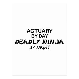 Actuary Deadly Ninja by Night Postcard