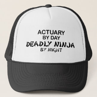 Actuary Deadly Ninja by Night Trucker Hat