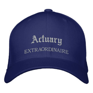 Actuary Extraordinaire Embroidered Hat