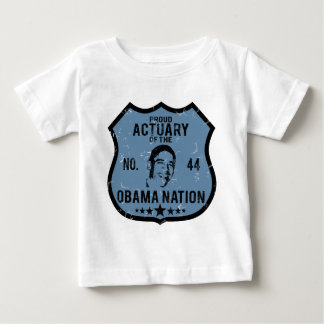 Actuary Obama Nation Baby T-Shirt