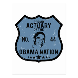 Actuary Obama Nation Postcard