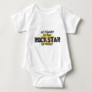 Actuary Rock Star by Night Baby Bodysuit