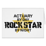 Actuary Rock Star by Night Card
