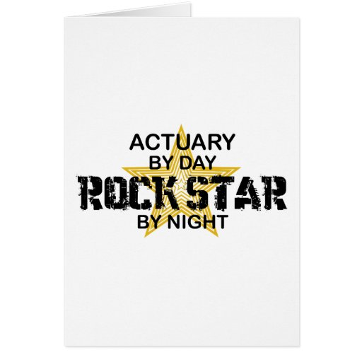 Actuary Rock Star by Night Cards