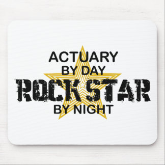 Actuary Rock Star by Night Mouse Pad