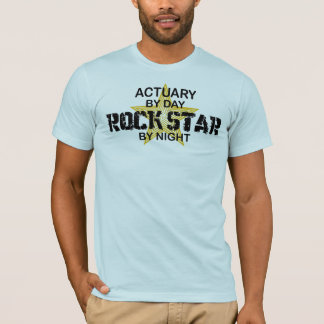 Actuary Rock Star by Night T-Shirt