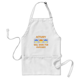 Actuary ... Will Work For Cupcakes Adult Apron