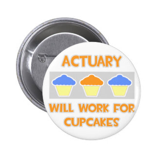Actuary ... Will Work For Cupcakes Button