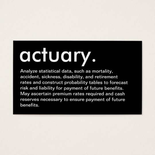 actuary. (with description) business card