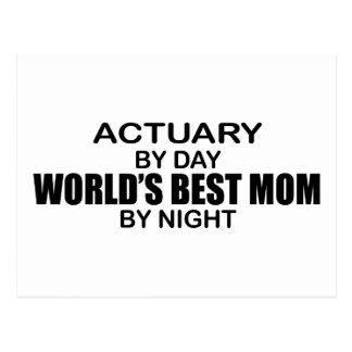 Actuary - World's Best Mom Postcard