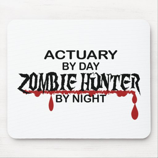 Actuary Zombie Hunter by Night Mousepad