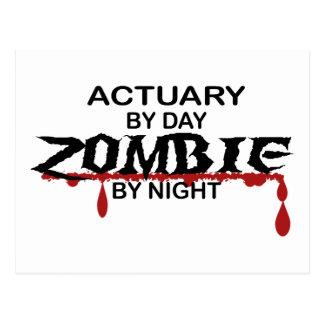 Actuary Zombie Postcard