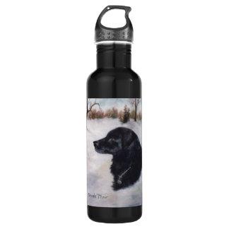 Actune Dog Portrait Stainless Steel Water Bottle