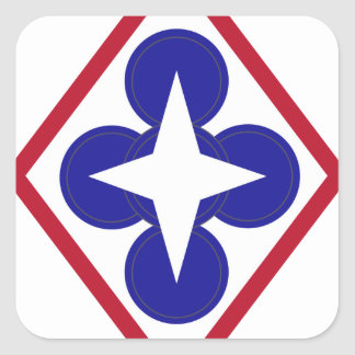 ACU Army Unit Patches Square Sticker