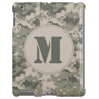 ACU Camo Camouflage Digital Monogram IPAD Case