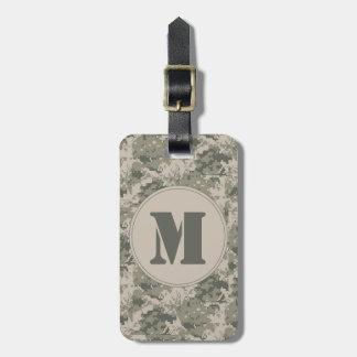 ACU Camo Camouflage Digital Monogram Luggage Tag