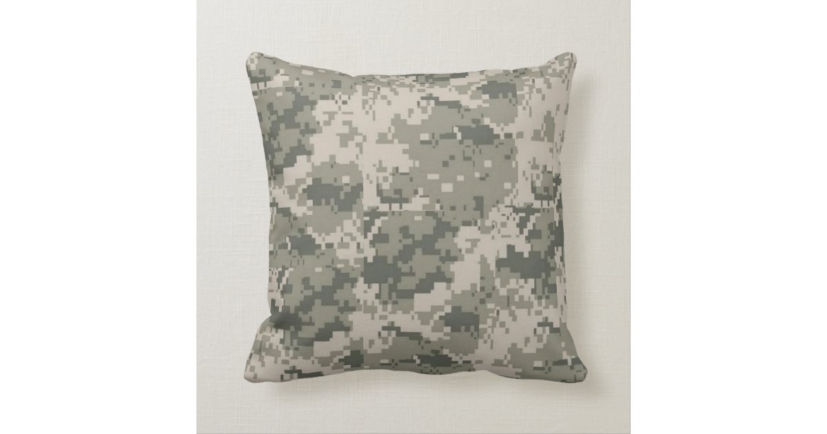Camo Couch Throw Pillows : ACU Camo Camouflage Digital Throw Couch Pillow Zazzle