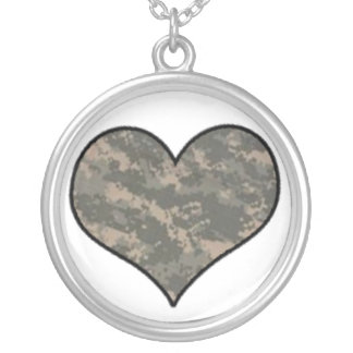 ACU Camo Heart Necklace