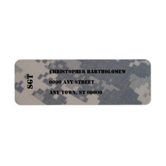 ACU Camo return address Custom Return Address Label