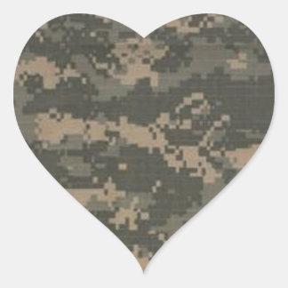 ACU Digital Camo Camouflage Heart Sticker