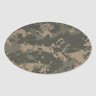 ACU Digital Camo Camouflage Oval Sticker