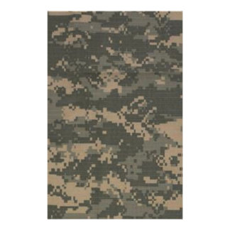 ACU Digital Camo Camouflage Stationery Design