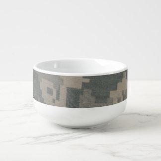 Acu Digital Pattern Print Camouflage Green Camo Soup Mug