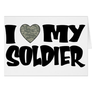 ACU Heart - I Love My Soldier Card