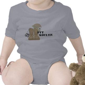 ACU infantil Camoflauge del EJÉRCITO de la ropa de Camisetas