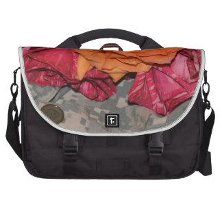 ACU Military Pattern Camouflage Peace Love Destiny Commuter Bag