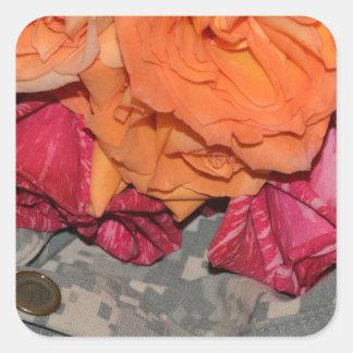 ACU Military Pattern Camouflage Peace Love Destiny Square Sticker