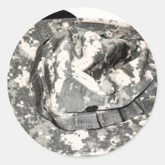 ACU Military Pattern Uniform Troops Peace Destiny Classic Round Sticker