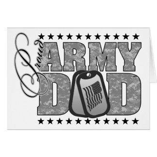 ACU orgulloso del papá del ejército Tarjeta De Felicitación