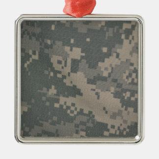 Acu Pattern Camouflage Troops Digital Art Peace Metal Ornament