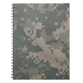 Acu Pattern Camouflage Troops Digital Art Peace Note Books