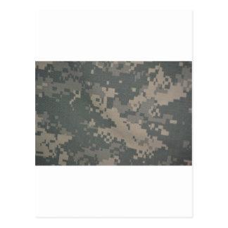 Acu Pattern Camouflage Troops Digital Art Peace Postcard