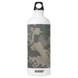 Acu Pattern Camouflage Troops Digital Art Peace Water Bottle