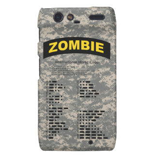 ACU Pattern Zombie Tab Razr Case With Morse Code