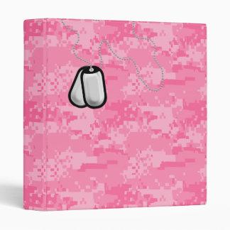 ACU rosado Camo con la carpeta de las placas de
