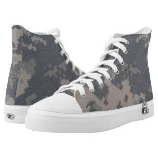 ACU Style Camo Design High-Top Sneakers