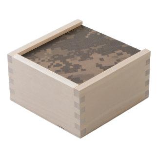 ACU Style Camo Design Wooden Keepsake Box