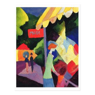 Acuarela 1913 de August Macke - de Modefenster Postal