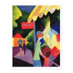 Acuarela 1913 de August Macke - de Modefenster Postales
