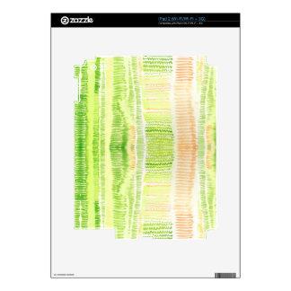 Acuarela abstracta amarilla verde calcomanía para iPad 2