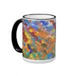 Acuarela abstracta multicolora tazas